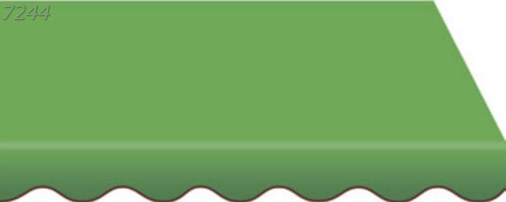 изготовление маркиз из зеленой ткани